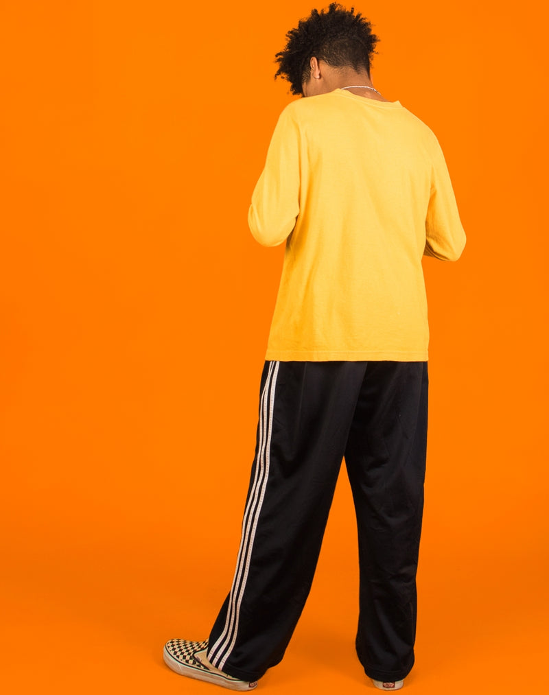 ADIDAS YELLOW LONG SLEEVED TEE