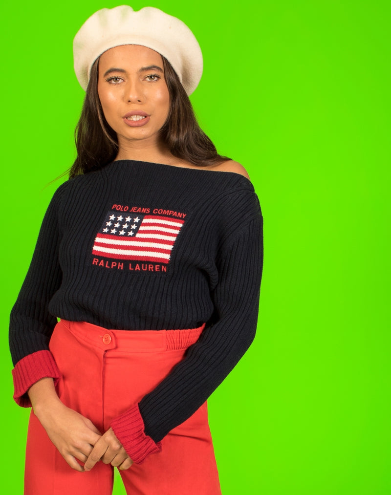 RALPH LAUREN FLAG JUMPER