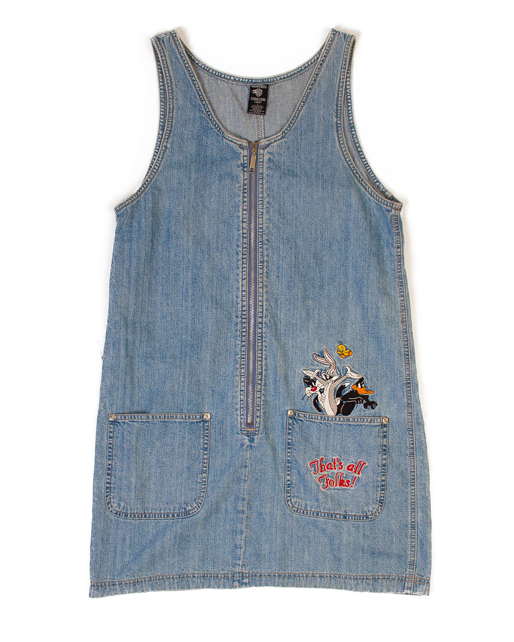 WARNER BROS DENIM PINAFORE