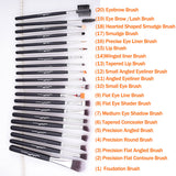 20 pcs/set Makeup Professional Brushes 100% Vegan Synthetic Taklon