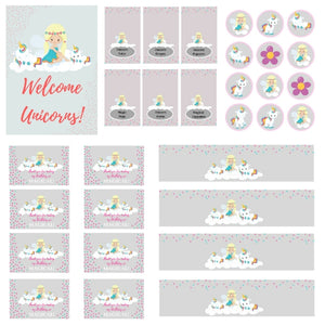 FREE PRINTABLE Believe in Unicorns Birthday Party Printables