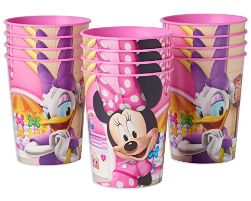 American Greetings Minnie Mouse 16 oz. Plastic Party Cup, 12-Count - partylovin