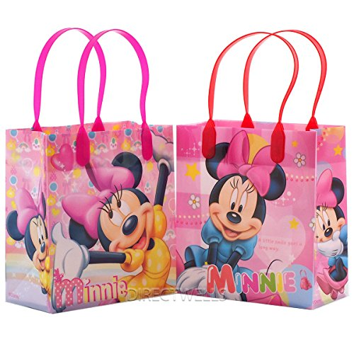 Disney Minnie Mouse Reusable Premium Party Favor Goodie Small Gift Bags 12 (12 Bags) - partylovin