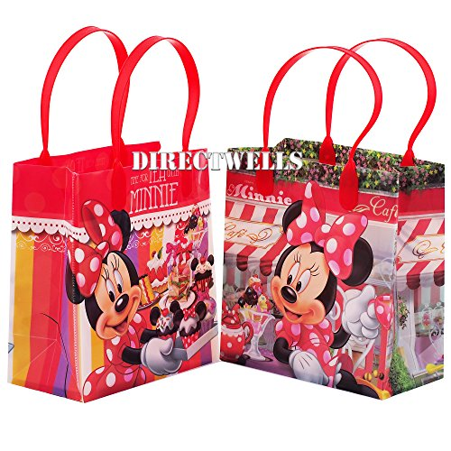 Disney Minnie Mouse Premium Quality Party Favor Goodie Small Gift Bags 12 - partylovin
