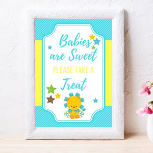 Little Lion It's a Boy -  Baby Shower Games Package Printables - partylovin
