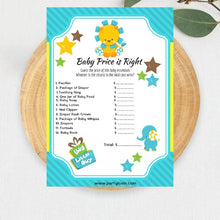 Load image into Gallery viewer, Little Lion It's a Boy -  Baby Shower Games Package Printables - partylovin