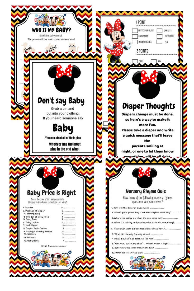 Disney & Friends Baby Shower Package Printables + BABY SHOWER PLANNER - partylovin