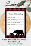BABY SHOWER BUNDLE Lumberjack Baby Shower Package It's a Girl or It's a Boy - partylovin