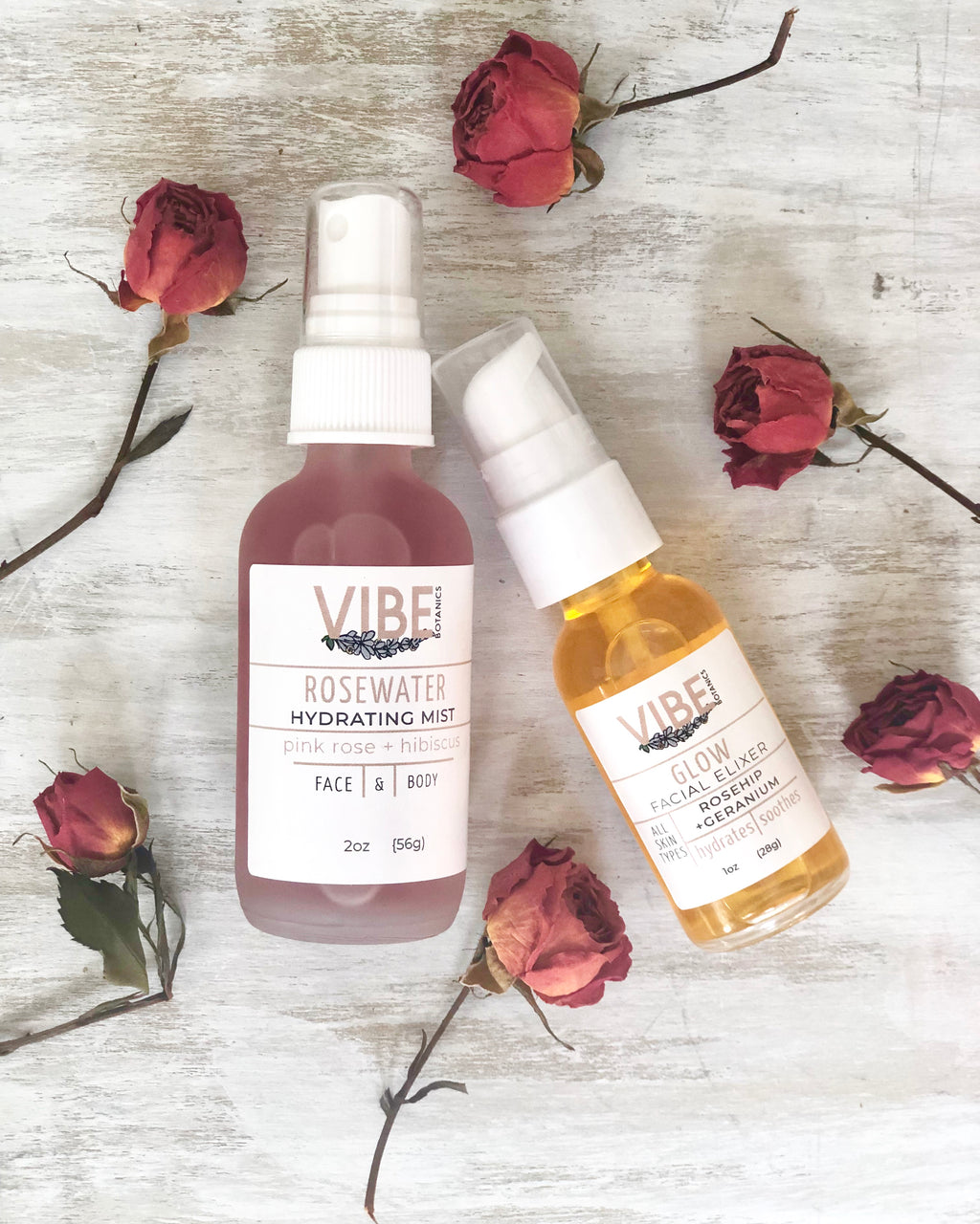 ROSEWATER Hydrating Mist + GLOW Facial Oil
