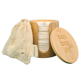 Bamboo Cotton Makeup Remover Pads with Cotton Laundry Bag