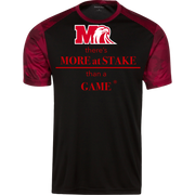 YST371 Sport-Tek Youth CamoHex Colorblock T-Shirt.  Click to view in black and red or black and gray.