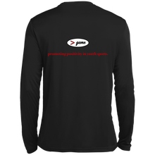 Load image into Gallery viewer, ST350LS Spor-Tek LS Moisture Absorbing T-Shirt.  Click to view in black or white.
