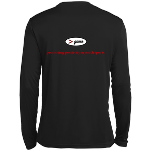 ST350LS Spor-Tek LS Moisture Absorbing T-Shirt.  Click to view in black or white.