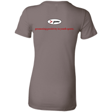 Load image into Gallery viewer, 6004 Bella + Canvas Ladies' Favorite T-Shirt.  Click to view in gray, black, or white.