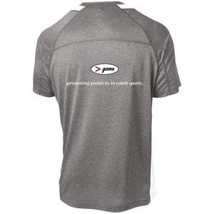 ST361 Sport-Tek Heather Colorblock Poly T-Shirt