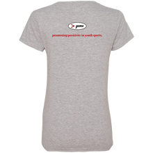 Load image into Gallery viewer, 88VL Anvil Ladies' V-Neck T-Shirt.  Click to view in gray, black, or white.