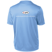YST350 Sport-Tek Youth Moisture-Wicking T-Shirt - WHITE print front and back