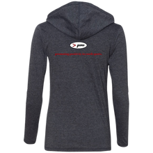 Load image into Gallery viewer, 887L Anvil Ladies' LS T-Shirt Hoodie.  Click to view in gray or white