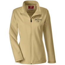 Load image into Gallery viewer, TT80W Team 365 Ladies' Soft Shell Jacket with black embroidery
