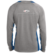 ST361LS Long Sleeve Heather Colorblock Poly T-Shirt