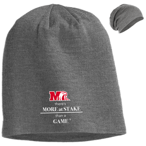 DT618 District Slouch Beanie.  Click to view in light or dark gray.