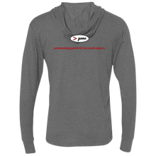 Load image into Gallery viewer, NL6021 Next Level Unisex Triblend LS Hooded T-Shirt.  Click to view in gray, black, or white.