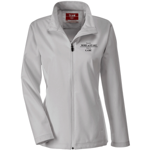 TT80W Team 365 Ladies' Soft Shell Jacket with black embroidery