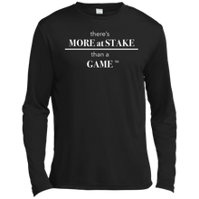 Load image into Gallery viewer, TST350LS Sport-Tek Tall LS Moisture Absorbing T-Shirt with WHITE font front and back