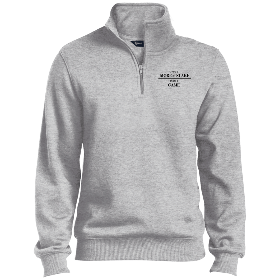 TST253 Sport-Tek Tall 1/4 Zip Sweatshirt with black embroidery