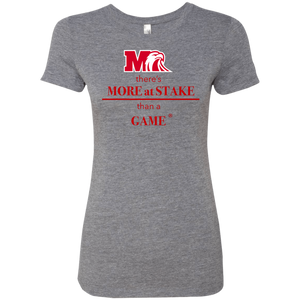 NL6710 Next Level Ladies' Triblend T-Shirt.  Click to view in gray, black, or white.