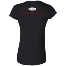 Load image into Gallery viewer, G640L Gildan Softstyle Ladies' T-Shirt.  Click to view in gray or black.