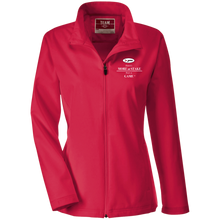 Load image into Gallery viewer, TT80W Team 365 Ladies' Soft Shell Jacket - white embroidery