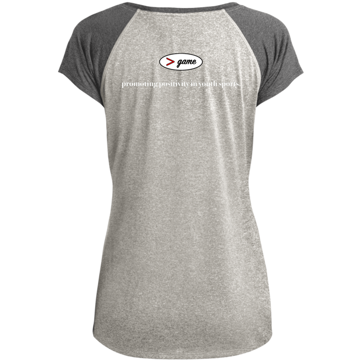 LST362 Sport-Tek Ladies Heather on Heather Performance T-Shirt
