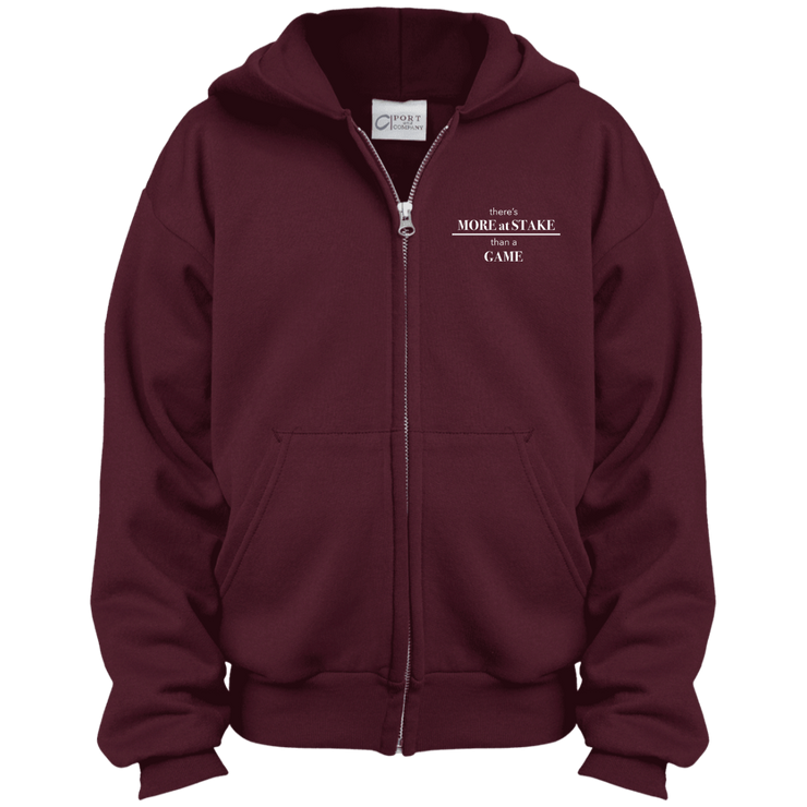 PC90YZH Port & Co. Youth Full Zip Hoodie