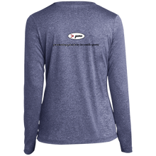 Load image into Gallery viewer, LST360LS Sport-Tek Ladies' LS Heather Dri-Fit V-Neck T-Shirt