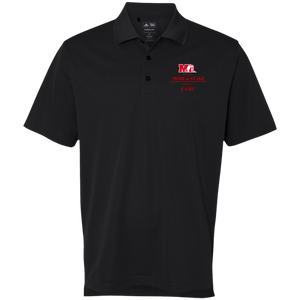 A130 Adidas Golf ClimaLite Basic Performance Pique Polo.  Click to view in black or white.