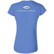 Load image into Gallery viewer, G640L Gildan Softstyle Ladies' T-Shirt - white print front and back