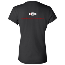 Load image into Gallery viewer, B6005 Bella + Canvas Ladies' Jersey V-Neck T-Shirt.  Click to view in gray, black, or white.