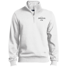 Load image into Gallery viewer, TST253 Sport-Tek Tall 1/4 Zip Sweatshirt with black embroidery