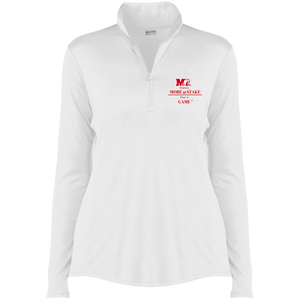 LST357 Sport-Tek Ladies' Competitor 1/4-Zip Pullover.  Click to view in white or black.