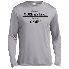 Load image into Gallery viewer, TST350LS Sport-Tek Tall LS Moisture Absorbing T-Shirt - BLACK print front and back