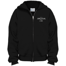 Load image into Gallery viewer, PC90YZH Port & Co. Youth Full Zip Hoodie with white embroidery