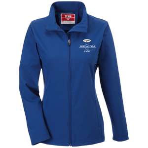 TT80W Team 365 Ladies' Soft Shell Jacket - white embroidery