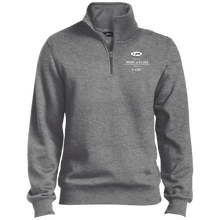 Load image into Gallery viewer, TST253 Sport-Tek TALL 1/4 Zip Sweatshirt - white embroidery