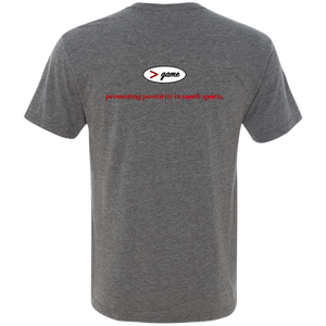 NL6040 Next Level Men's Triblend V-Neck T-Shirt.  Click to view in gray or black.