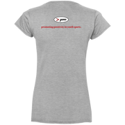 G64VL Gildan Ladies' Fitted Softstyle 4.5 oz V-Neck T-Shirt