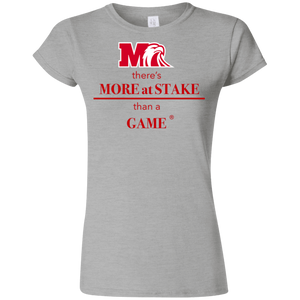 G640L Gildan Softstyle Ladies' T-Shirt.  Click to view in gray or black.