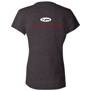 B6005 Bella + Canvas Ladies' Jersey V-Neck T-Shirt.  Click to view in gray, black, or white.