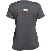 Load image into Gallery viewer, LST360 Sport-Tek Ladies' Heather Dri-Fit Moisture-Wicking T-Shirt.  Click to view in light or dark gray.