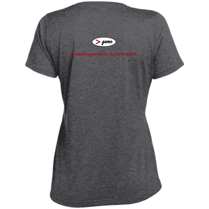 LST360 Sport-Tek Ladies' Heather Dri-Fit Moisture-Wicking T-Shirt.  Click to view in light or dark gray.